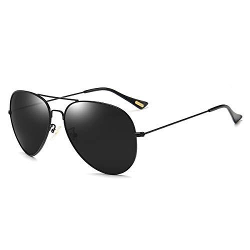Polarized Aviator Sunglasses for Men Women Memory Metal Lightweight Frame