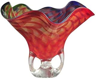 Dale Tiffany Cinnabar Wave Art Glass Vase
