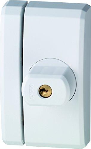 Abus 33684 FTS 96 W Fensterschloss mit Schlüssel, elfenbeinfarben, mit Keilen, 0026603, 120