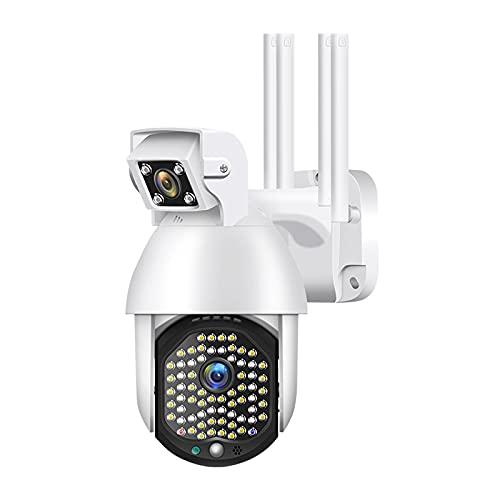 Cámara de seguridad para exteriores gran angular de doble lente, cámaras de vigilancia para sistema de seguridad en el hogar, cámara HD de 1080P con detección de movimiento, IP66 a prueba de agua