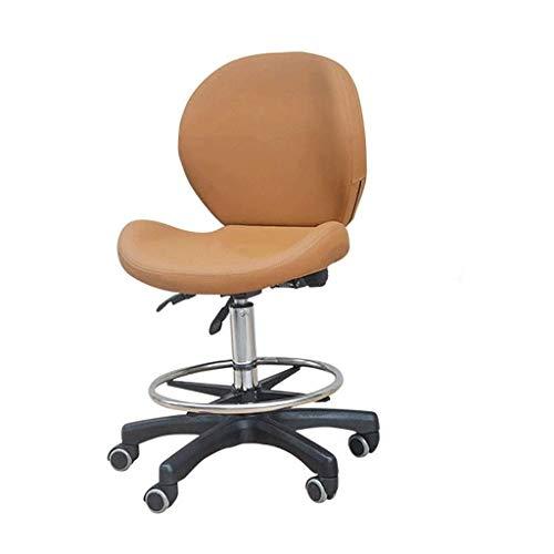 YUNC Silla de salón Silla para computadora, silla de oficina, silla de salón, respaldo Silla de laboratorio para taburete giratorio silencioso de quirófano 60-80 cm