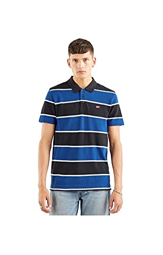Levi's Herren O.G Batwing Polo Shirt, Clarkia Marineblau Peony, L