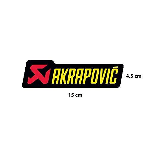 Akrapovic Aufkleber 15 x 4,5 cm