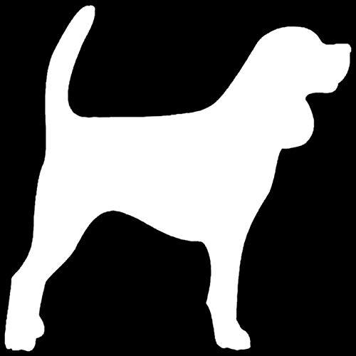 Empty 3 STK. Autoaufkleber und Abziehbilder 15 * 15CM Beagle Dog Wasserdichtes, reflektierendes Abziehbild für Stoßstangenfenster Laptop Motorrad Fahrradgepäck Graffiti-Aufnäher