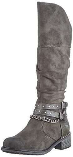 MUSTANG Damen 1370-501-20 Klassisch Kniehohe Stiefel Dunkelgrau,40 EU