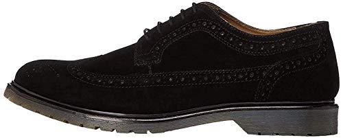 find. Suede Zapatos de Cordones Brogue, Negro Black, 44 EU