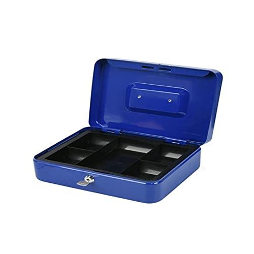 Acan Caja de caudales portatil de Metal con portamonedas Interior, Cerradura Mediante Llave y asa 25 x 20 x 9 cm (Color Surtido)