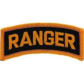 US Army - Tab Ranger, Embroidered Patches, Premium Quality Iron On Patch - 3'