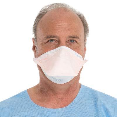 HALYARD FLUIDSHIELD Surgical N95 Respirators, ASTM Level 3 Mask, Regular Size, Orange, 46727 (Case of 210)