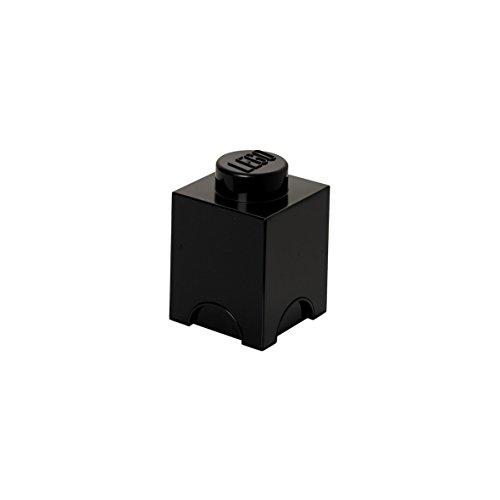 LEGO Storage Brick with 1 Knob, in Black