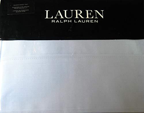 RALPH LAUREN Lauren Queen Dunham Sateen Celestial Blue Sheet Set