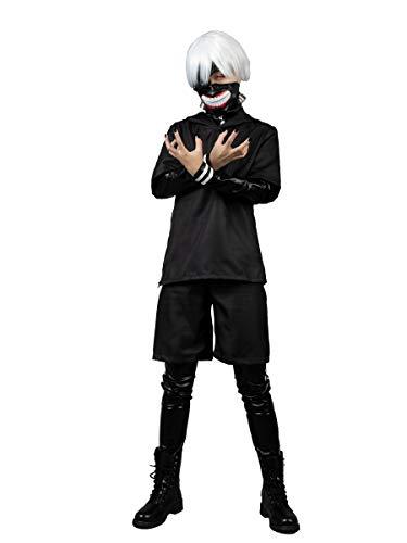 Cosfun Japan Anime Kaneki Ken Cosplay Costumes Full Set mp005087 (Small) Black