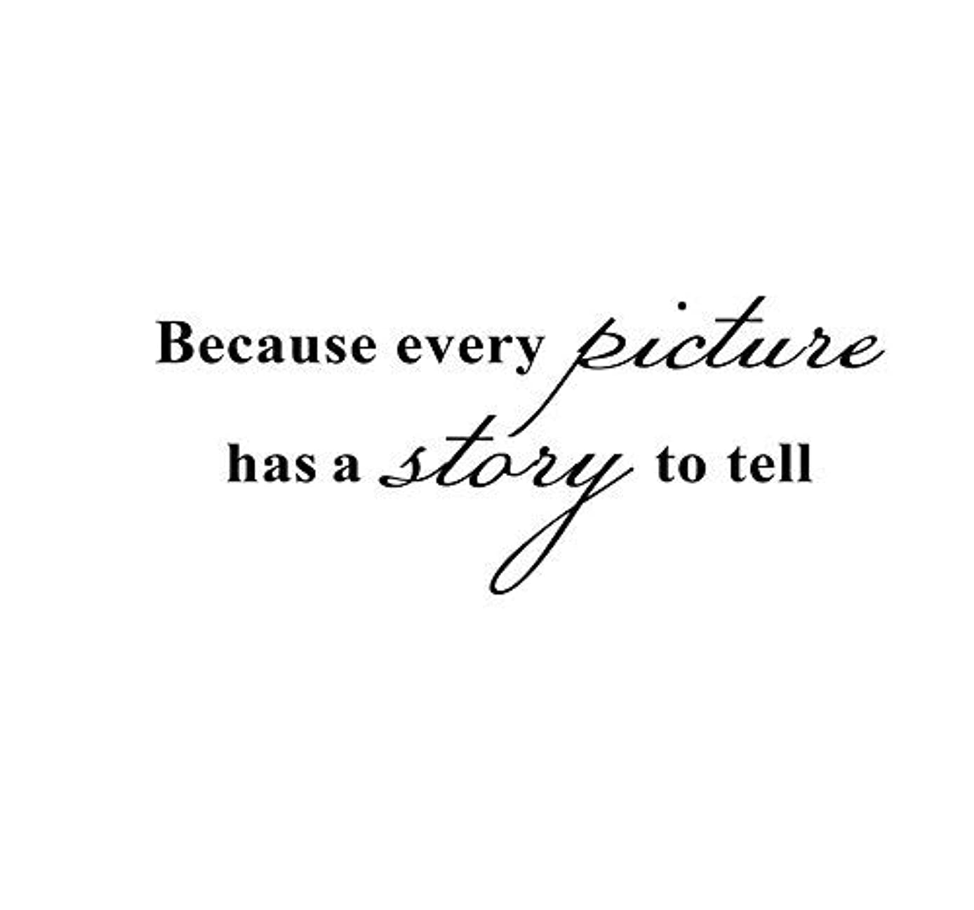 Boodecal Because Every Picture Has a Story to Tell Removable Wall Lettering Stickers Quotes and Sayings Home Art Décor Decals 17*7 Inches