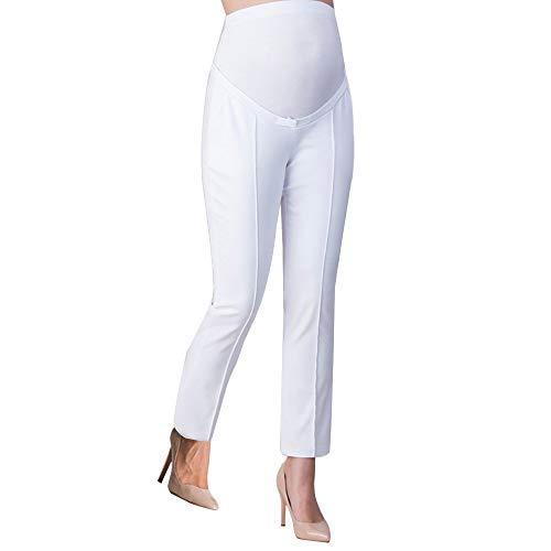 QinMM Pantalones de Oficina de Trabajo para Mujeres Embarazadas Pantalones Ajustados de Cintura Alta para Mujer Pantalones Pitillo Delgados Pantalones superpuestos para Mujer