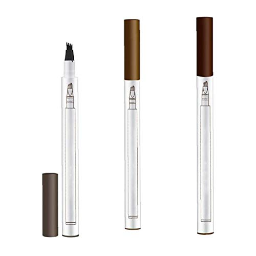 Sourcils Pen Crayon Sourcils étanche pour maquillage professionnel naturel Brow 3pcs Pour Femmes Filles Accessoires Beauté