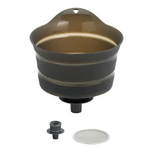 NIDONE Filtro de embudo de vino de silicona portátil plegable filtro de mermelada utensilios de cocina gris