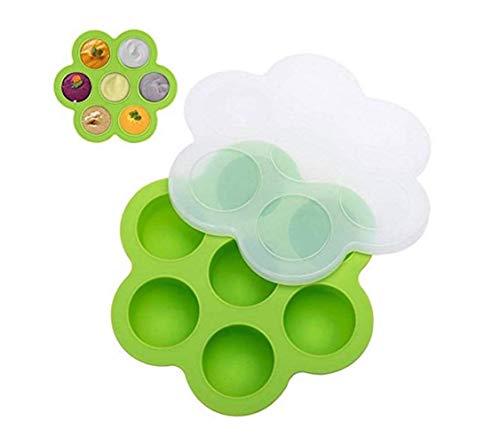 beicemania Baby Voedsel Vriezen Trays Voedsel Mallen Koken Mallen Voedsel Grade Siliconen Mould voor Instant Pot met Deksel, Groen