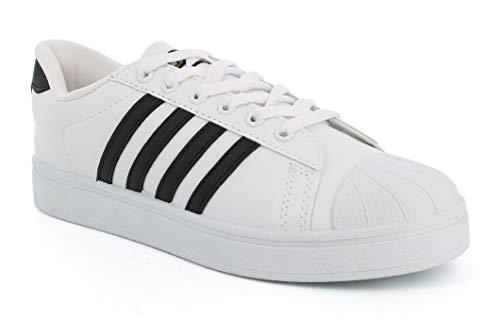 Sparx Boy's White Black Sneakers-4 Kids UK (36 2/3 EU) (SD0323B_WHBK0004)