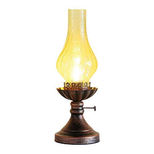 Sunneey 220V E27 Retro Petroleumlampe, Kreative Lampe, Antike Lampe, Schlafzimmer Nachttischlampe, Alte Tischlampe, Dekoratives Licht, Geeignet Für Familien, Bars, Cafés, Restaurants