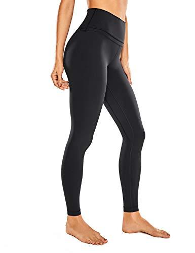 CRZ YOGA Damen Nackte Empfindung Hohe Taille Joggen Yoga Leggings mit Tasche-71cm Schwarz 40