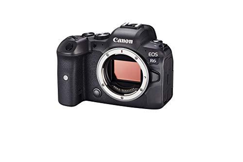 Canon EOS R6 Vollformat Systemkamera - Gehäuse (spiegellos, 20,1 MP, 4K UHD, 5-Achsen Bildstabilisator, 7,5 cm (3,0 Zoll) LCD II, WLAN, Bluetooth, USB 3.1, Dual Pixel CMOS AF II) schwarz