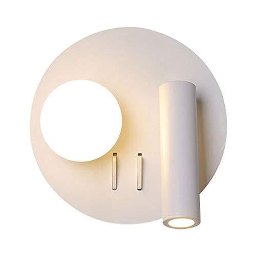 Moderno LED Lámpara de pared, Redondo Focos de techo Luz de pared, Blanco Acrílico Faros Habitaciones infantiles Dormitorio Lámpara de noche, Sala Lámpara, Salón Cafetería Iluminación de la pared