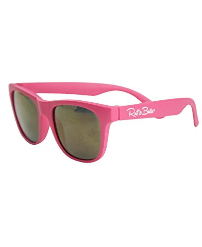 RuffleButts Baby/Toddler Girls Candy Pink Sunglasses - 2T-5