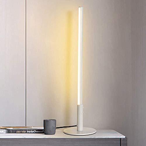 SYyshyin Lámpara de mesa LED RGB Lámpara de escritorio LED Protección ocular cálida Luz monocromática para dormitorio minimalista Lámpara de línea de cabecera Modelo de individualidad y creatividad Lá