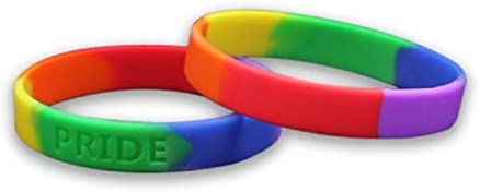 Fundraising For A Cause Silicone Pride Flag Rainbow Bracelet Adult Pride Bracelet LGBTQ Bracelet product image