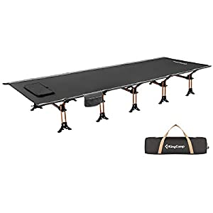 "KingCamp Luxus Folding Camping Cot XXL Ultra-light - 28.3"" Width 250 kg Capacity"
