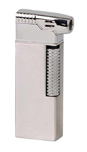 PASSATORE Pfeifenfeuerzeug chrom satin/chrom poliert Sz mit integriertem Pfeifenbesteck