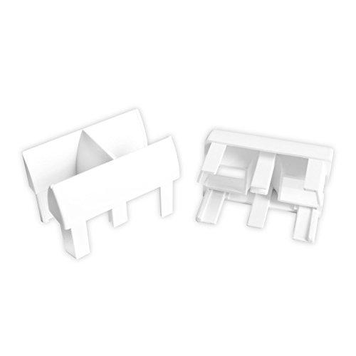 DIWARO® Einlauftrichter für Führungsschiene aus Kunststoff | weiß | 939