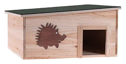 Meinposten. Igelhaus Igelhotel Überwinterungshilfe für Igel Überwintern Holz Haus 37x37x18 cm