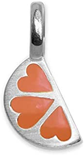 Alex Woo Sterling Silver Mini Addition Charm, Orange, 0