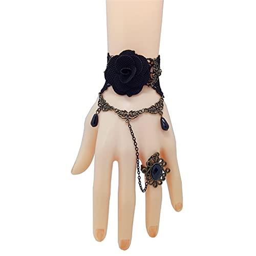 Braccialetti di pizzo gotico fatti a mano & braccialetti vintage donne accessori bracciali per partito gioielli