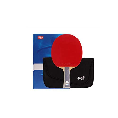 Discover Bargain HUIJUNWENTI Table Tennis Racket, Horizontal Shot, Sky Blue, Double-Sided Anti-Adhes...
