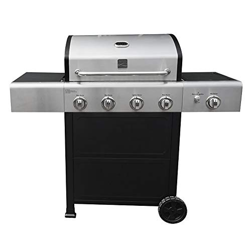 Kenmore PG-40406S0L-AM Outdoor Patio 4 Gas BBQ Propane Grill with Side Burner in, Black/Stainless Steel Burners Grill
