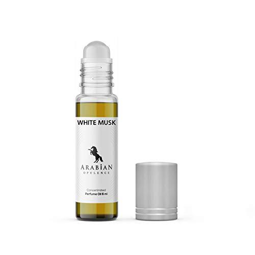 FR297 BLANCO MUSK perfume aceite para mujer. 6ml roll-on botella. Arabian Opulence. almizclado/polvo/blanco floral/leñoso/floral