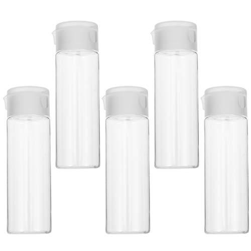 Yardwe 5 Pcs Vide Lotion Presse Bouteilles 50 ML Maquillage Cosmétique Liquide Tubes Portable Voyage en Plein Air Lotion Conteneurs