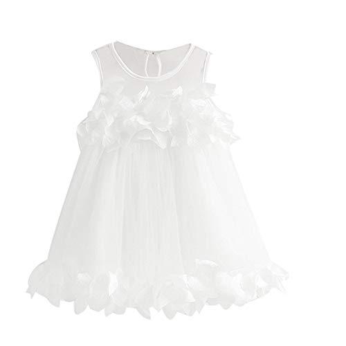 Mädchen Kleider Festlich, Weant Baby Kleidung Mädchen Trägerlos Spitze Blütenblatt Prinzessin Kleider FüR Kinder Mädchen Kleidung Partykleid Chiffon Kleid Baby Tägliche Kleidung Pullover