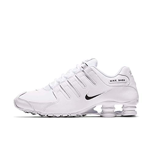 Nike Mens Shox NZ EU White Black Synthetic Leather Trainers 46 EU