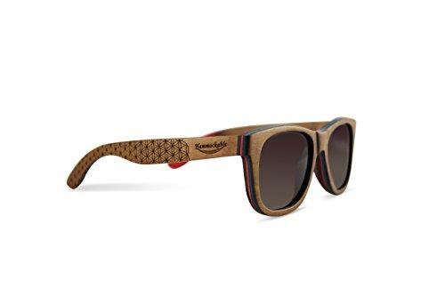 Hammockable 100% Natural Maple Wood Polarized Sunglasses