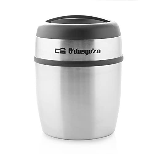 Orbegozo TRSL 1500 - Termo para sólidos y líquidos, fabricación acero inoxidable, temperatura fría o caliente, asa de transporte, libre de BPA, 1500 ml