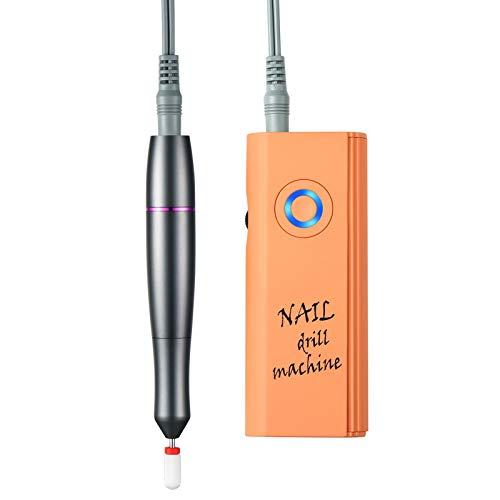 Torno para Uñas Profesional eléctrica Fresa de uñas Cuidado dispositivo 30000 rpm Acrílico o de Gel para Manicura y Pedicura con 1 Brocas Ideal para Salón de Belleza y Casa,Naranja
