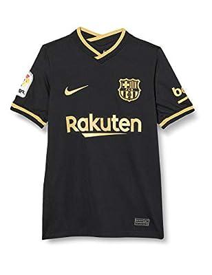 Nike FC Barcelona Away Youth Stadium Soccer Jersey- 2020/21 (S) Black/Gold