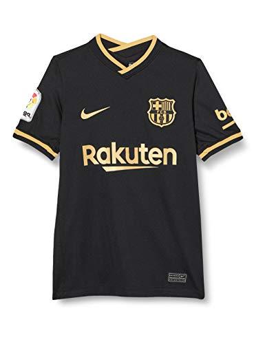Nike Kinder Trikot FC Barcelona Stadium Away, Black/Metallic Gold, S, CD4499-011