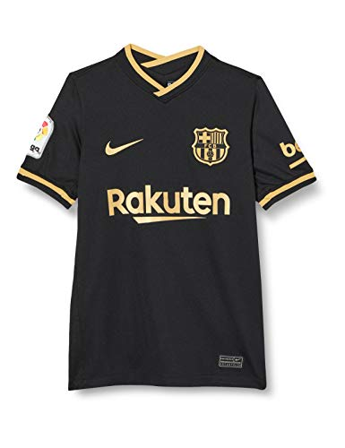 Nike FC Barcelona Away Youth Stadium Soccer Jersey- 2020/21 (S) Black/Gold