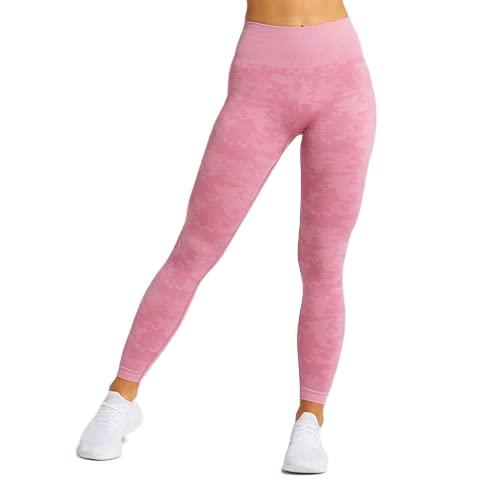 QTJY Leggings Deportivos para Mujer, Pantalones para Correr, Cintura Alta, Push Up, Mallas Delgadas, Pantalones de Yoga sin Costuras elásticos para Correr, ES