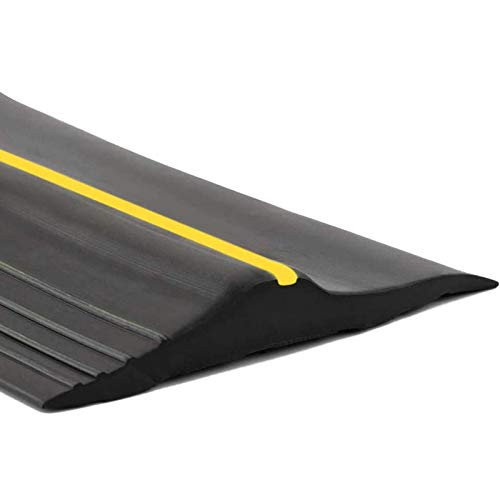 20Ft/6M Universal Garage Threshold Seal Strip, Garage Door Bottom Weatherproof Strip Rubber DIY Weather Stripping Replacement, Not Include Sealant/Adhesive (Black)