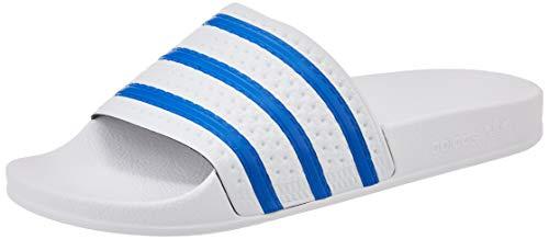 adidas Herren Adilette Gymnastikschuh, FTWR White Glory Blue FTWR White, 42 EU